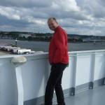 Marcel op de boot