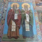 mozaïek in de kathedraal van de Opstanding
