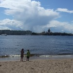 het strand van Sint Petersburg